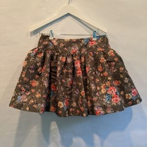 Red Valentino floral mini skirt size 6 BNWT